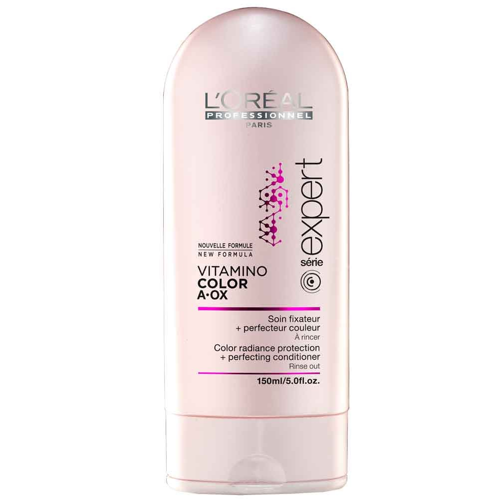 LOreal Professionnel Expert Vitamino Смываемый уход-фиксатор цвета Color AOX 150 млFS-00897Уход-фиксатор Vitamino Color закрепляет цвет изнутри волос, интенсивно питает их. Средство обогащено керамидами, витаминами и микроэлементами. Фиксатор цвета не только сохраняет цвет ваших волос, но и обеспечивает волосам ухоженный вид, придаёт блеск, делает их мягкими и эластичными, облегчает расчёсывание. Система Hydro-resist, лежащая в основе средства, препятствует вымыванию цвета водой, в то время как молекула Incell делает волосы сильными, густыми за счёт того, что укрепляет клеточную структуру волос. Результат – сильные, красивые и здоровые волосы, сохраняющие насыщенный и яркий цвет в течение долгого времени.