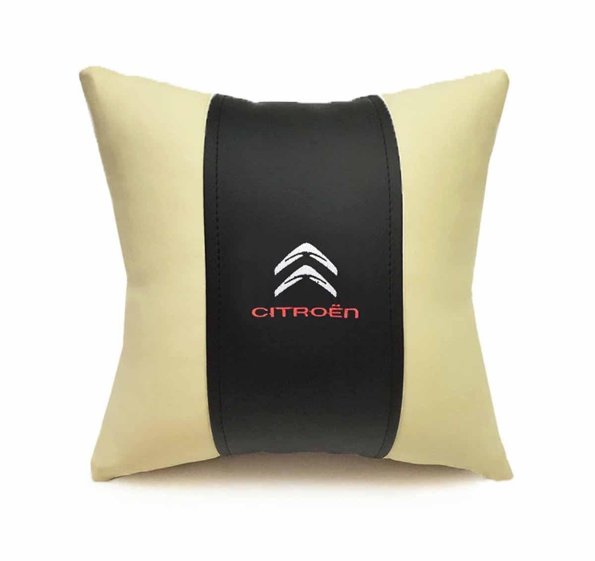 Подушка декоративная Auto premium Citroen, цвет: черный, бежевый подушка декоративная auto premium я патриот цвет черно бежевый 37257