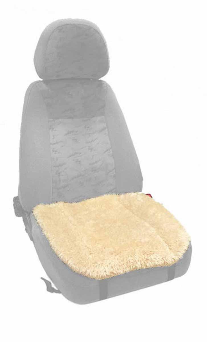 Накидка Auto premium на горизонтальную часть сидения, цвет: бежевый. 47003 (СМ03)Аксион Т-33Накидка на нижнюю часть сиденья выполнена из искуственного меха. Особенно полезна будет в зимний период времени. Меховая накидка избавит Вас от неприятных очущений при посадке в замерзший автомобиль. Накидка имеет 4 точки крепления на сиденье, поэтому держится крепко и никуда не съедет.