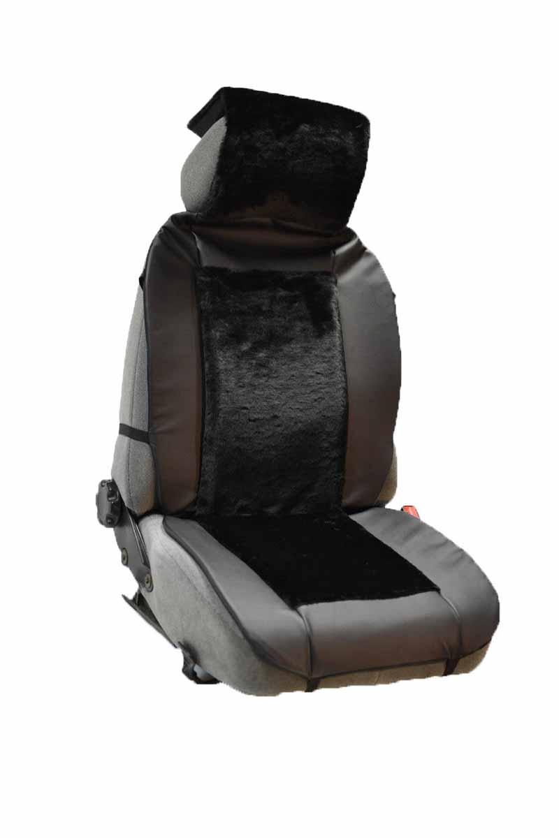 Накидка Auto premium на полное сидение, цвет: черный. 4711121395598Комбинированная накидка из экокожи и искуственного меха. Стильное и практичное решение для салона автомобиля. Экокожа обеспечит долговечность использования накидки, а искуственный мех сделает сиденье автомобиля еще более комфортным. Долговечная и в то же время теплая накидка в Ваш автомобиль.