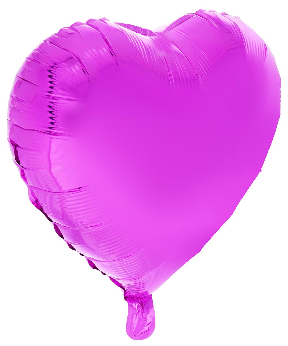 Action! Шар фольгированный Сердце цвет фиолетовый -  Воздушные шарики