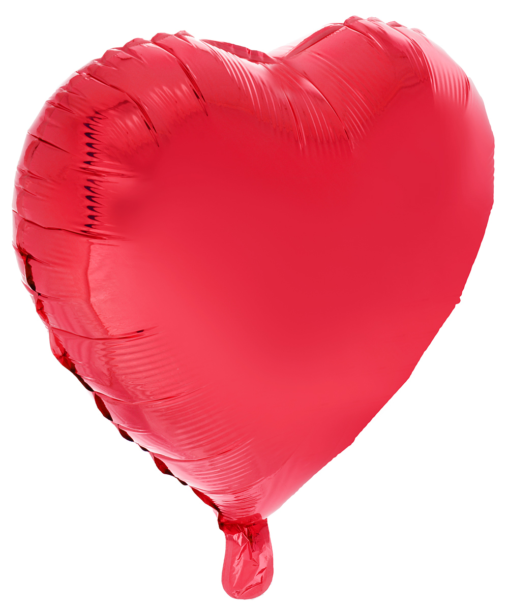 Action! Шар фольгированный Сердце цвет красный