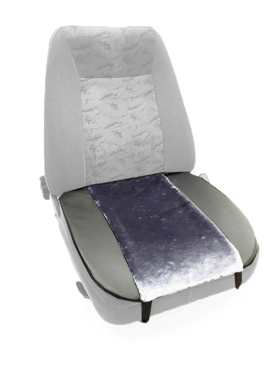 Накидка Auto premium на горизонтальную часть сидения, цвет: черно-серый. 4700998298130Комбинированная накидка на нижнюю часть сиденья выполнена из искуственного меха и экокожи. Сочетания этих материалов обеспечит долговечность при использваонии накидки, при этом икомфорт останется на высоком уровне. Накидка имеет 4 точки крепления на сиденье, поэтому держится крепко и никуда не съедет.