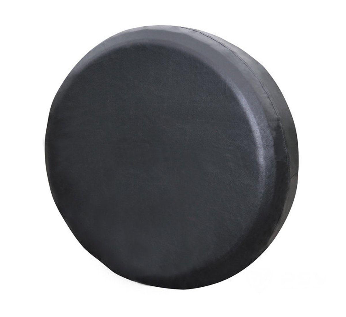 Чехол на запасное колесо Auto premium. Размер L (74-79 см), цвет: черный. 7720398298130Чехол на запасное колесо автомобиля ( Размер L), выполненый из высококачественной экокожи, прекрасно охранит «запаску» от негативного влияния погодных условий: пыль грязь, дождь, при этом чехол не потрескается на морозе.