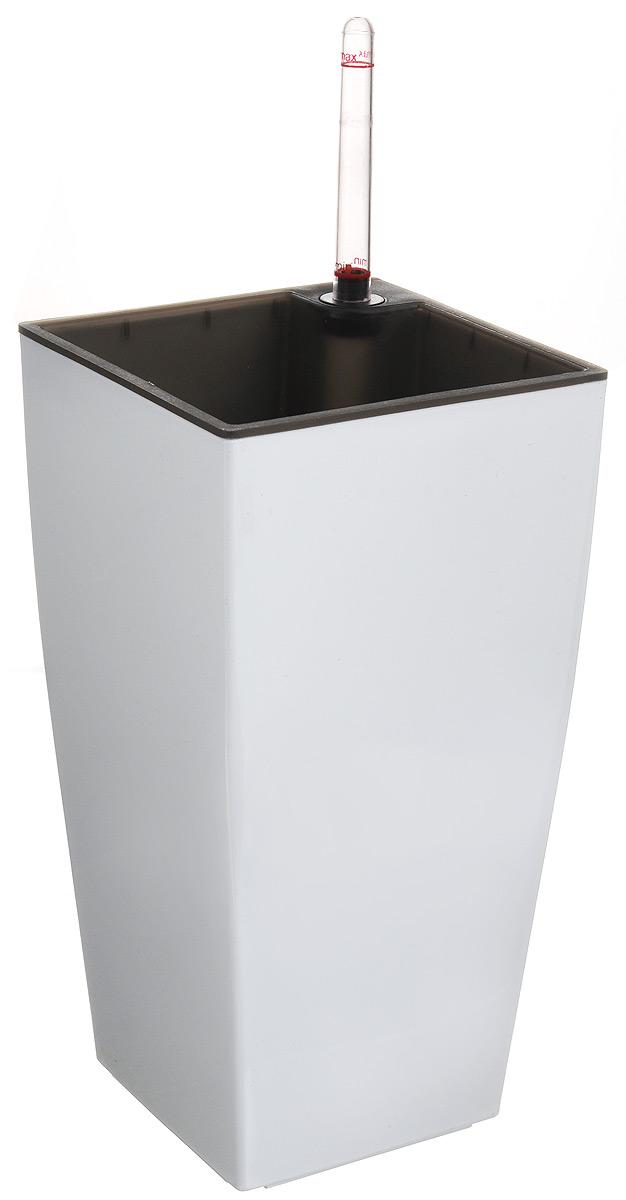Горшок Green Apple, с системой автополива, цвет: белый, 13,5 х 13,5 х 26,5 смGPS5-13-PКвадратный горшок Green Apple имеет уникальную систему автополива, благодарякоторой корневая система растения непрерывно снабжается влагой изрезервуара. Уровень воды в резервуаре контролируется с помощью специальногоиндикатора. В зависимости от размера кашпо и растения воды хватает на 2-12недель. Размеры горшка: 13,5 х 13,5 х 26,5 см.Толщина стенок: 0,5 см.