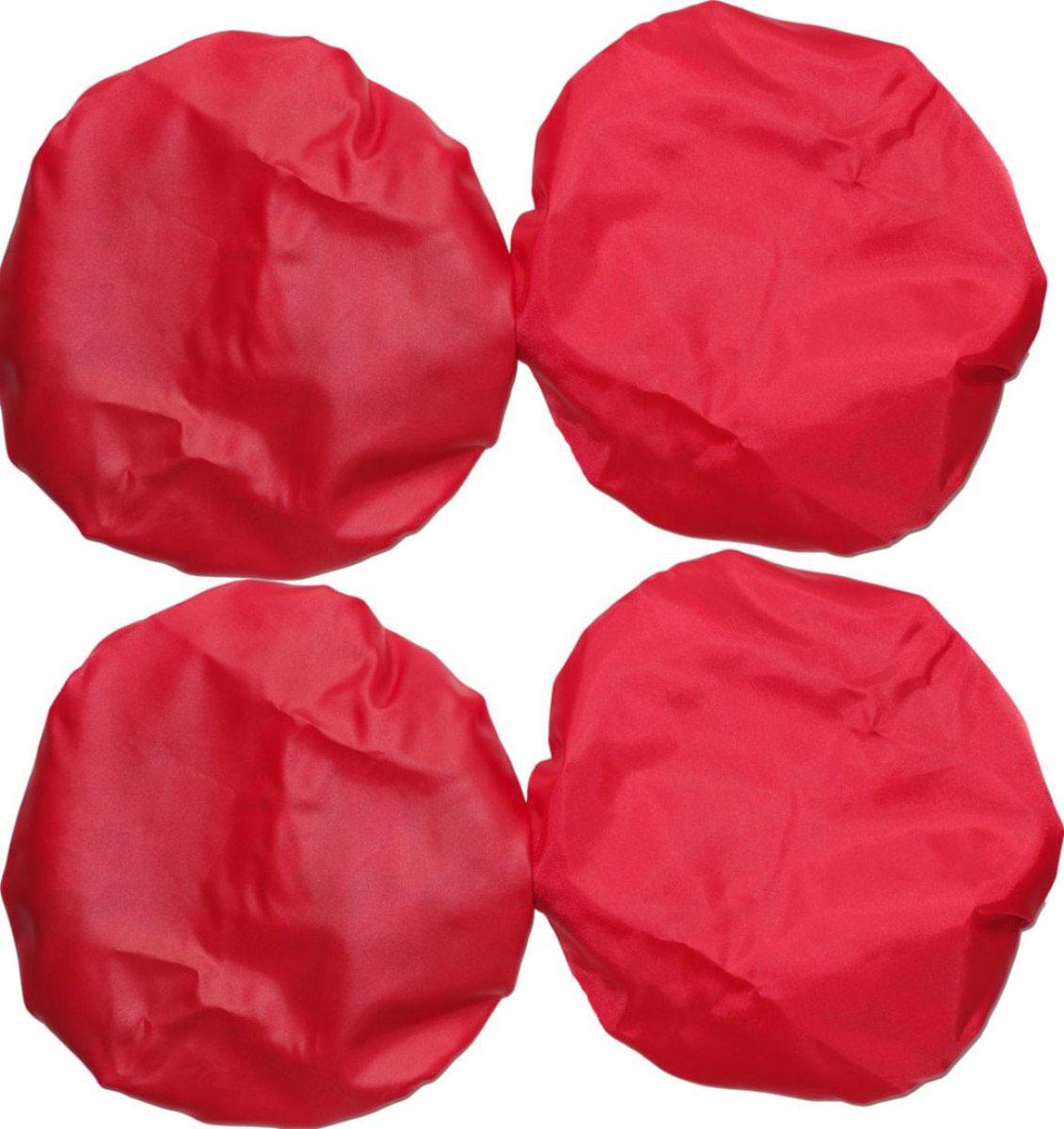 Чудо-Чадо Чехлы на колеса для коляски диаметр 28-38 см цвет красный 4 шт -  Аксессуары для колясок