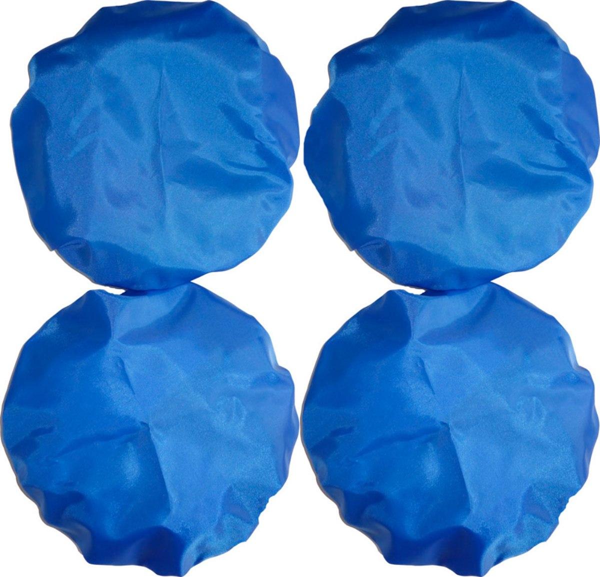 Чудо-Чадо Чехлы на колеса для коляски диаметр 28-38 см цвет синий 4 шт -  Аксессуары для колясок
