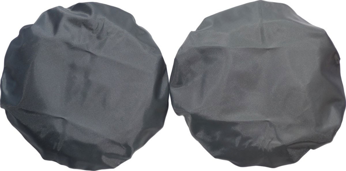 Чудо-Чадо Чехлы на колеса для коляски диаметр 18-28 см цвет мокрый асфальт 2 шт -  Аксессуары для колясок