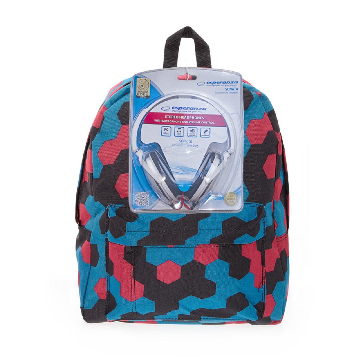 Рюкзак городской 3D Bags Мозаика, 16 л + ПОДАРОК: Наушники3DBC329NСтильный, вместительный и практичный, рюкзак понравится и школьникам, и студентам. Просторный внутренний отсек, наружний карман на молнии будут очень удобны в использовании. В комплект входят белые стереонаушники с мягкими ушными подушками. Длина кабеля 2м, разъем 3,5мм, сопротивление 32 Ом, диапазон часто - 20 Гц-20000 Гц, выходная мощность - 100 мВт.Наушники поставляются в цветовом ассортименте. Поставка осуществляется в зависимости от наличия на складе.