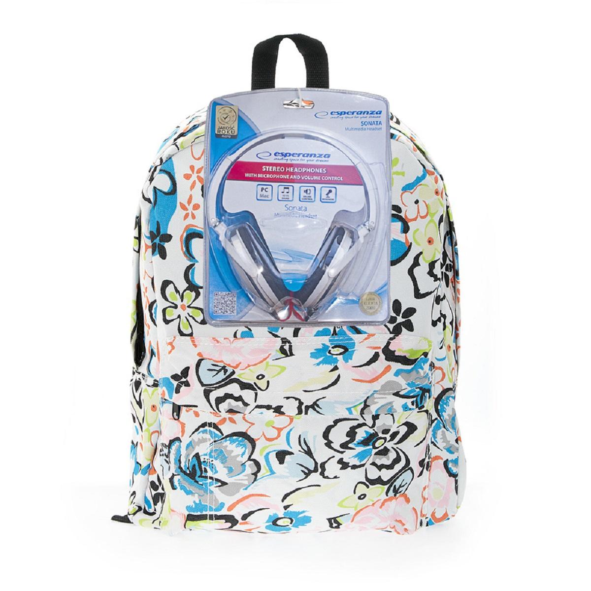 Рюкзак городской 3D Bags Цветы, 16 л + ПОДАРОК: Наушники3DBC409NСтильный, вместительный и практичный, рюкзак понравится и школьникам, и студентам. Просторный внутренний отсек, наружний карман на молнии будут очень удобны в использовании. В комплект входят белые стереонаушники с мягкими ушными подушками. Длина кабеля 2м, разъем 3,5мм, сопротивление 32 Ом, диапазон часто - 20 Гц-20000 Гц, выходная мощность - 100 мВт.Наушники поставляются в цветовом ассортименте. Поставка осуществляется в зависимости от наличия на складе.