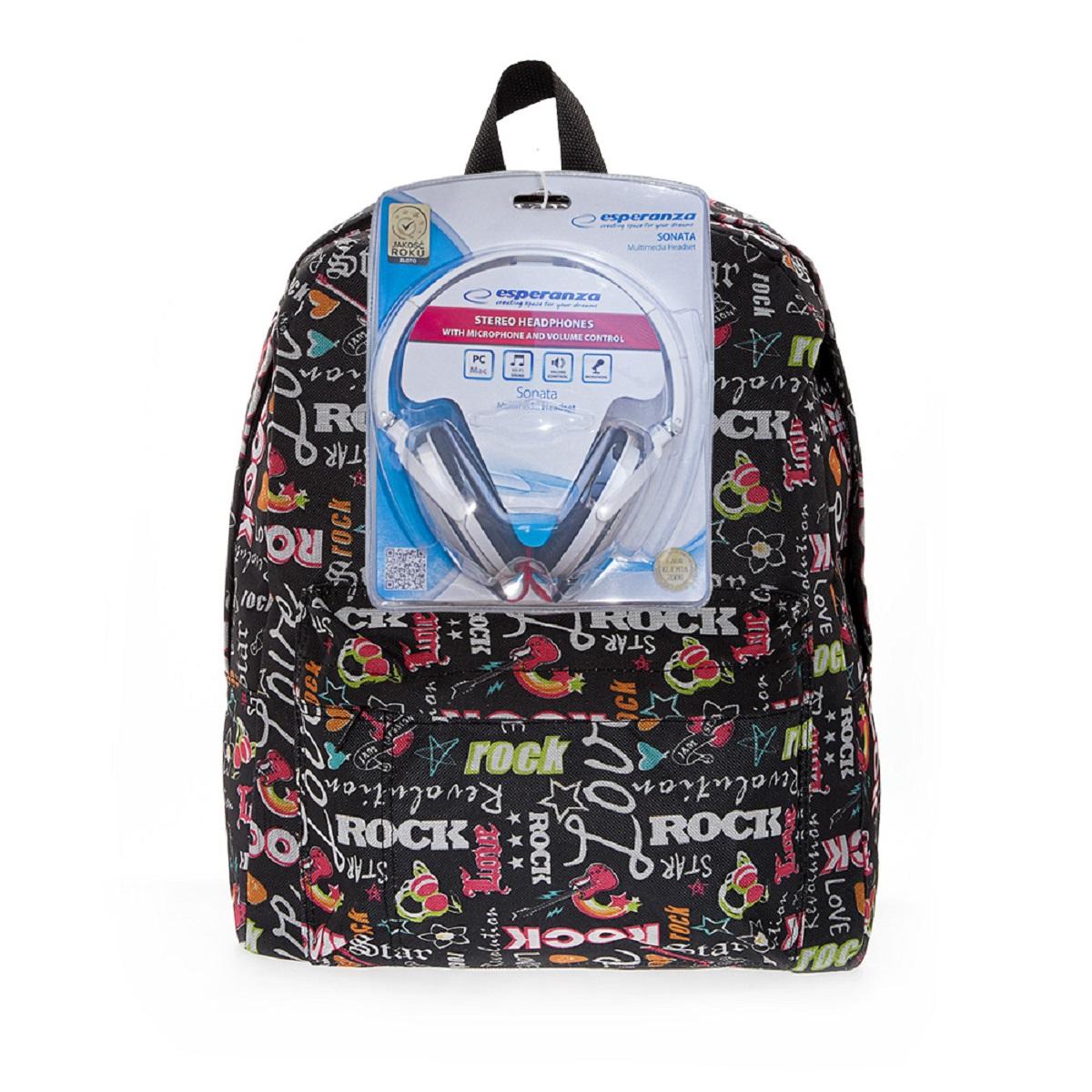 Рюкзак городской 3D Bags Рок-Стар, 16 л + ПОДАРОК: Наушники3DBC491NСтильный, вместительный и практичный, рюкзак понравится и школьникам, и студентам. Просторный внутренний отсек, наружний карман на молнии будут очень удобны в использовании. Настоящая находка для будущей рок-звезды! В комплект входят белые стереонаушники с мягкими ушными подушками. Длина кабеля 2м, разъем 3,5мм, сопротивление 32 Ом, диапазон часто - 20 Гц-20000 Гц, выходная мощность - 100 мВт.Наушники поставляются в цветовом ассортименте. Поставка осуществляется в зависимости от наличия на складе.