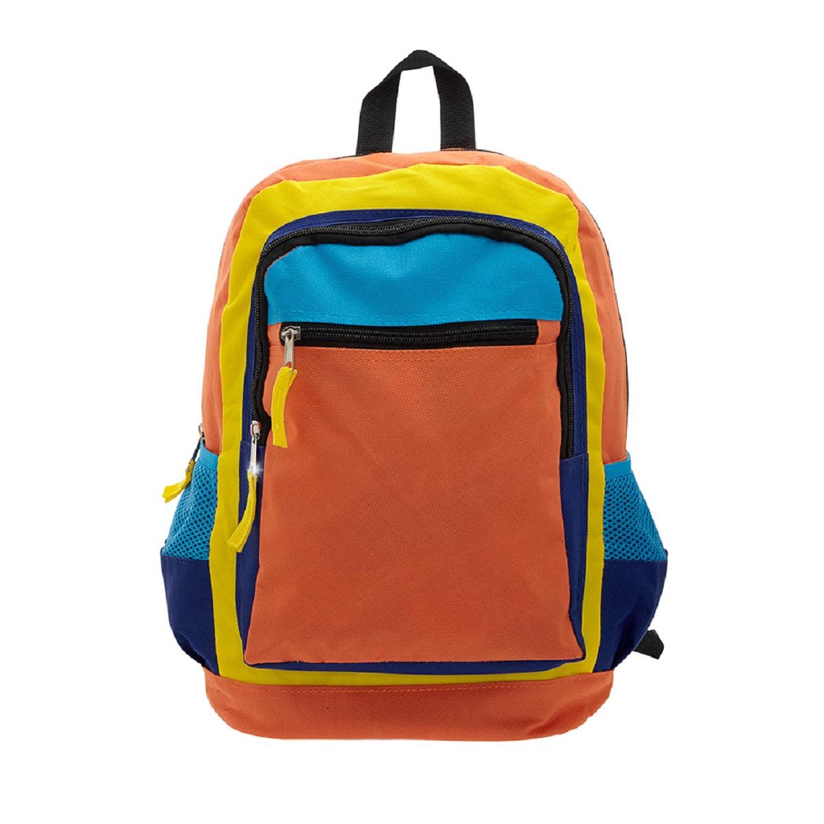 Рюкзак городской 3D Bags Оранжевое настроение, цвет: оранжевый, синий, 17 лMABLSEH10001Стильный, яркий, позитивный!!! Улучшит настроение в школьные будни и подчеркнет ваш неповторимый образ!