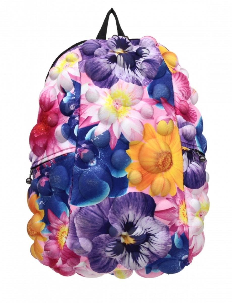Рюкзак молодежный MadPax Bubble Full Flower, 33 лKAA24484210Стильный и практичный рюкзак MadPax Bubble Full Flower, уместный в ритме большого города. Основное отделение закрывается на молнию. Внутри изделия есть отделение для ноутбука с максимальным размером диагонали 17 дюймов. По бокам - два дополнительных кармана на молнии. Модель помимо лямки для переноски в руке, мягких и широких регулируемых бретелей снабжена фиксацией на груди. Полностью вентилируемая и ортопедическая спинка создаёт дополнительный комфорт Вашей спине.