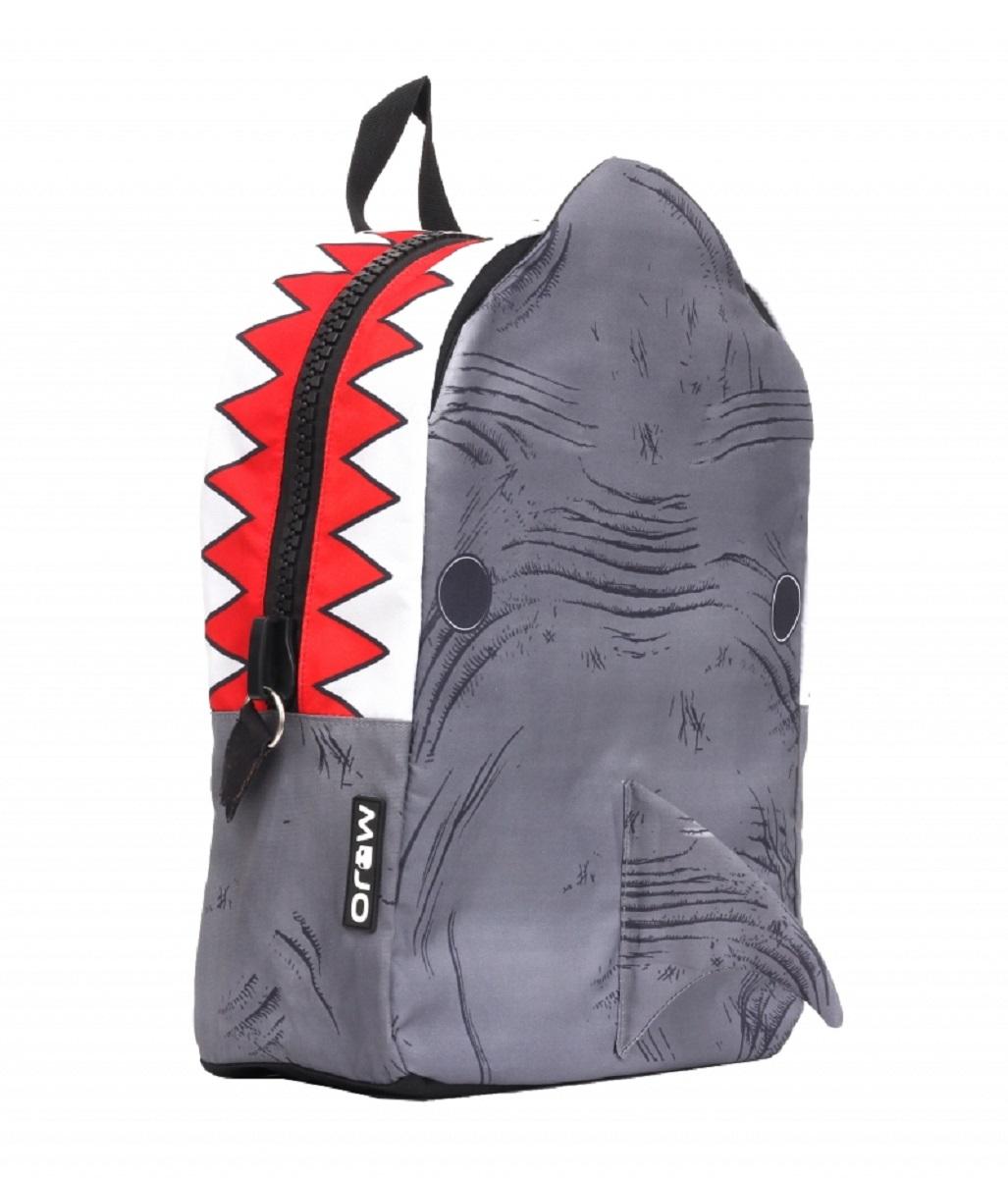 Рюкзак молодежный Mojo Shark 3D, цвет: серый, 20 лKAA9984083Молодежный рюкзак имеет яркий и неповторимый дизайн, что непосредственно будет радовать его хозяина и выделять его из серой массы.