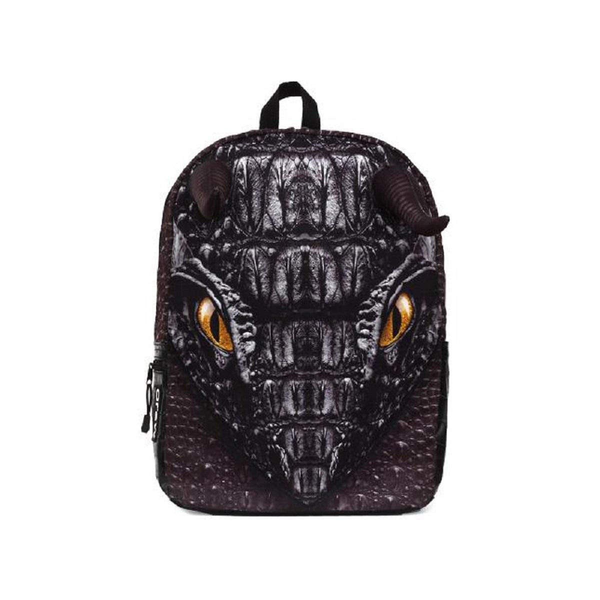 Рюкзак молодежный Mojo Black Dragon, цвет: черный, 20 лRU-518-4/2Оригинальный рюкзак в виде морды дракона с сияющими глазами. Отличает этот рюкзак торчащие рога, которые придают этому рюкзаку реалистичность и креатив.