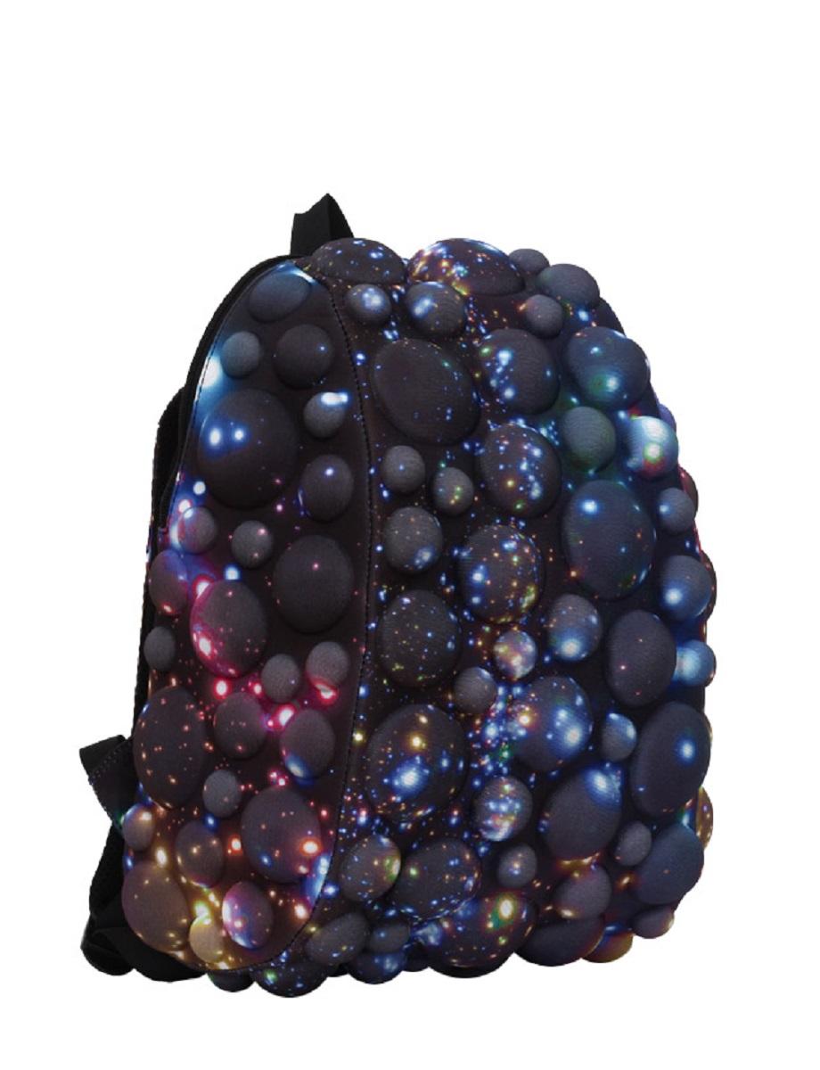 Рюкзак молодежный MadPax Bubble Half, цвет: черный, мультицвет, 16 лZ90 blackЛегкий и вместительный рюкзак MadPax Bubble Half с одним основным отделением с застежкой на молнии. В основное отделение с легкостью входит ноутбук размером диагонали 13 дюймов, iPad и формат А4. Незаменимый аксессуар как для активного городского жителя, так и для школьников и студентов. Широкие лямки можно регулировать для наиболее удобной посадки, а мягкая ортопедическая спинка делает ношение наиболее удобным и комфортным.