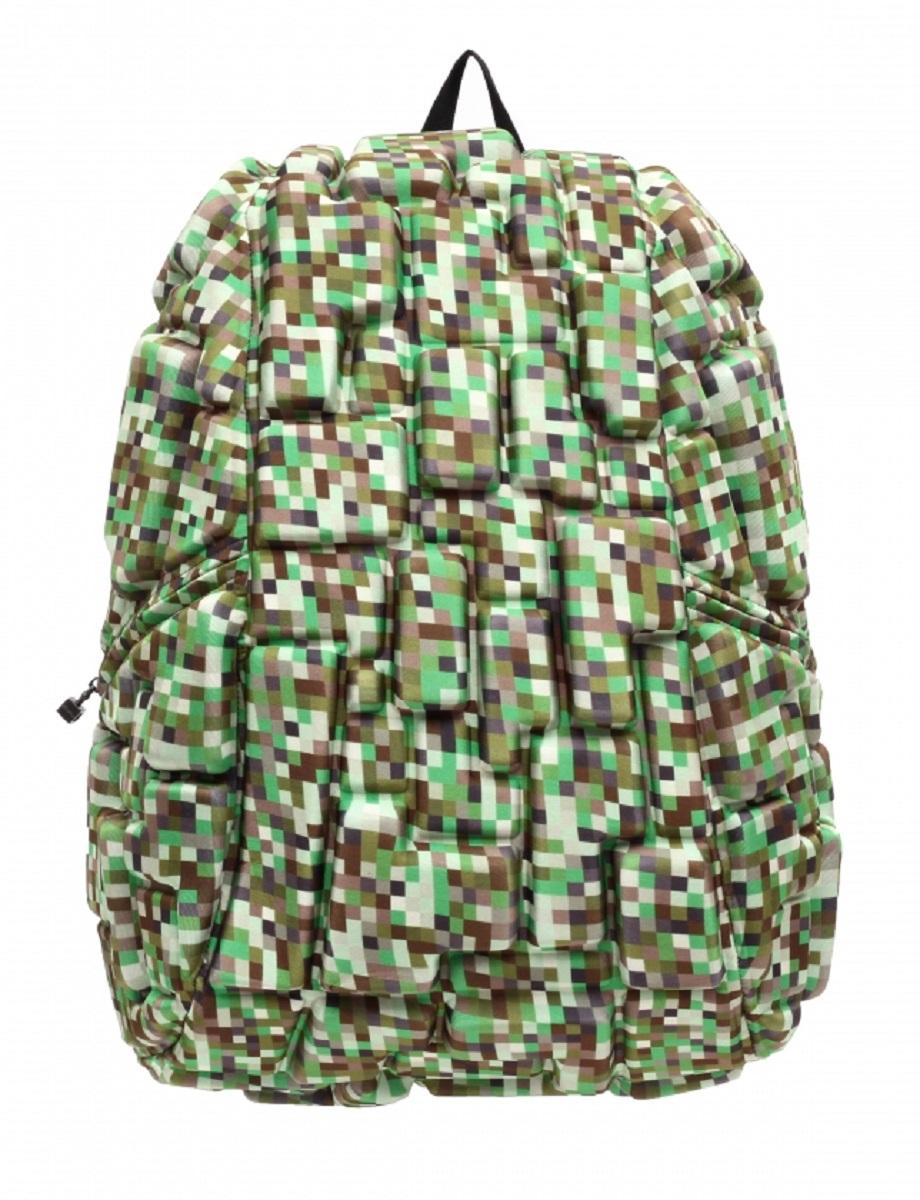 Рюкзак молодежный MadPax Blok Full, 33 лKZ24484101Стильный и практичный рюкзак уместный в ритме большого города. Основное отделение закрывается на молнию. Внутри изделия есть отделение для ноутбука с максимальным размером диагонали 17 дюймов. По бокам - два дополнительных кармана на молнии. Модель помимо лямки для переноски в руке, мягких и широких регулируемых бретелей снабжена фиксацией на груди. Полностью вентилируемая и ортопедическая спинка создаёт дополнительный комфорт Вашей спине.