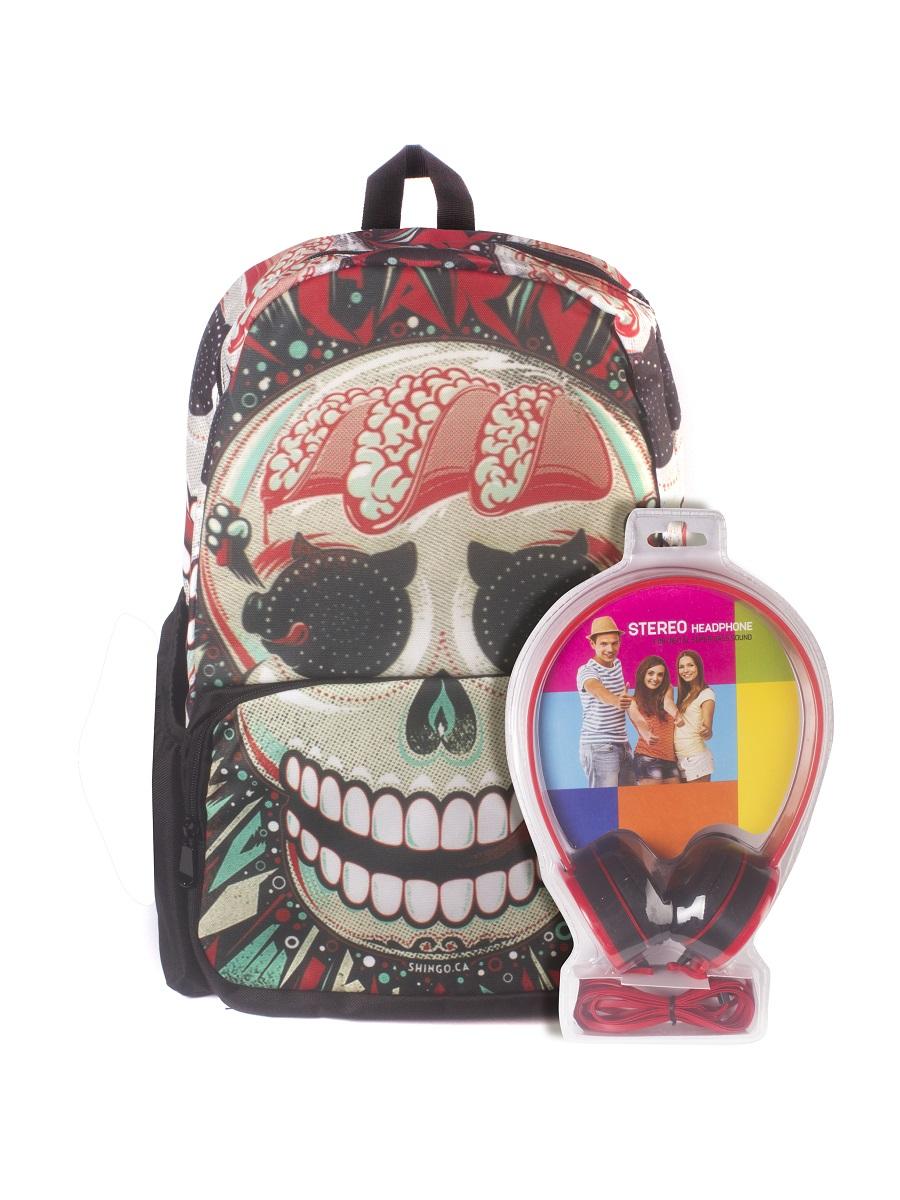Рюкзак молодежный 3D Bags Роджер-Клоун, цвет: черный, красный, 27 л + ПОДАРОК: НаушникиRivaCase 7560 blueНовая колекция для любителей Веселого Роджера. С этими рюкзаки вы всегда будете на пике популярности, а наушники, входящие в комлект, позволят вам не расставаться с любимой музыкой, фильмами и играми. Технические характеристики: длина шнура 1800 мм (+-50 мм), частота 20-20 КГц, импеданс 32 Ом (+-10%), чувствительность 105 дБ/В (+-3 дБ на 1 КГц), разъем mini-jack 3,5 мм.Наушники поставляются в цветовом ассортименте. Поставка осуществляется в зависимости от наличия на складе.