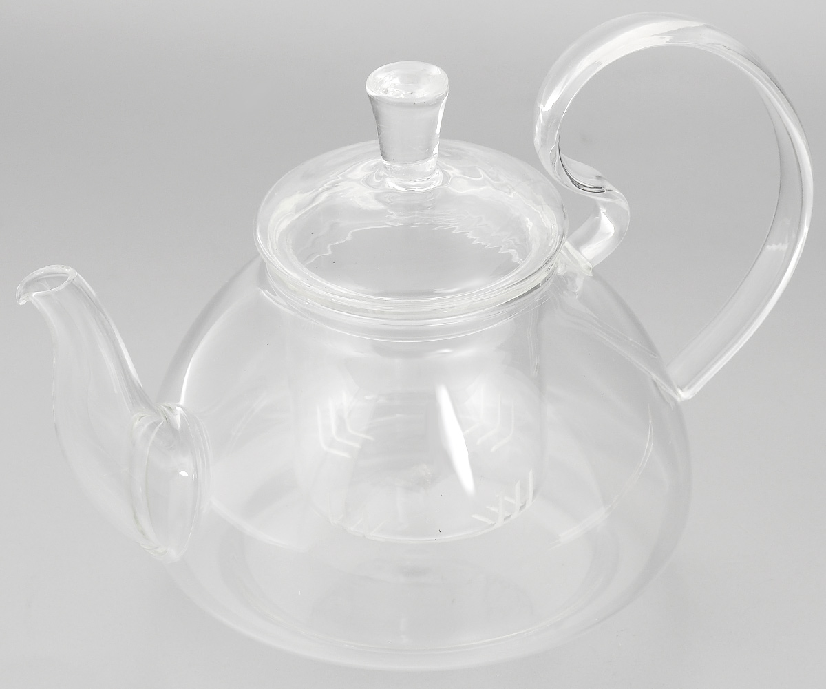 Чайник заварочный Mayer & Boch, с фильтром, 600 мл. 24936115510Заварочный чайник Mayer & Boch, выполненный из жаропрочного стекла, практичный и простой в использовании. Он займет достойное место на вашей кухне и позволит вам заварить свежий, ароматный чай. Чайник оснащен сетчатым фильтром, который задерживает чаинки и предотвращает их попадание в чашку, а прозрачные стенки позволяют наблюдать за насыщением напитка. Заварочный чайник Mayer & Boch послужит хорошим подарком для друзей и близких.Диаметр чайника (по верхнему краю): 6,5 см.Высота чайника (без учета крышки): 9,5 см.Высота фильтра: 6,5 см.Объем: 600 мл.