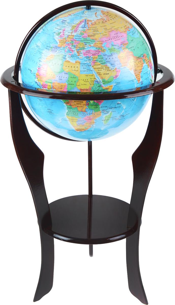Глобусный мир Глобус напольный с политической картой мира диаметр 42 см на деревянной подставке