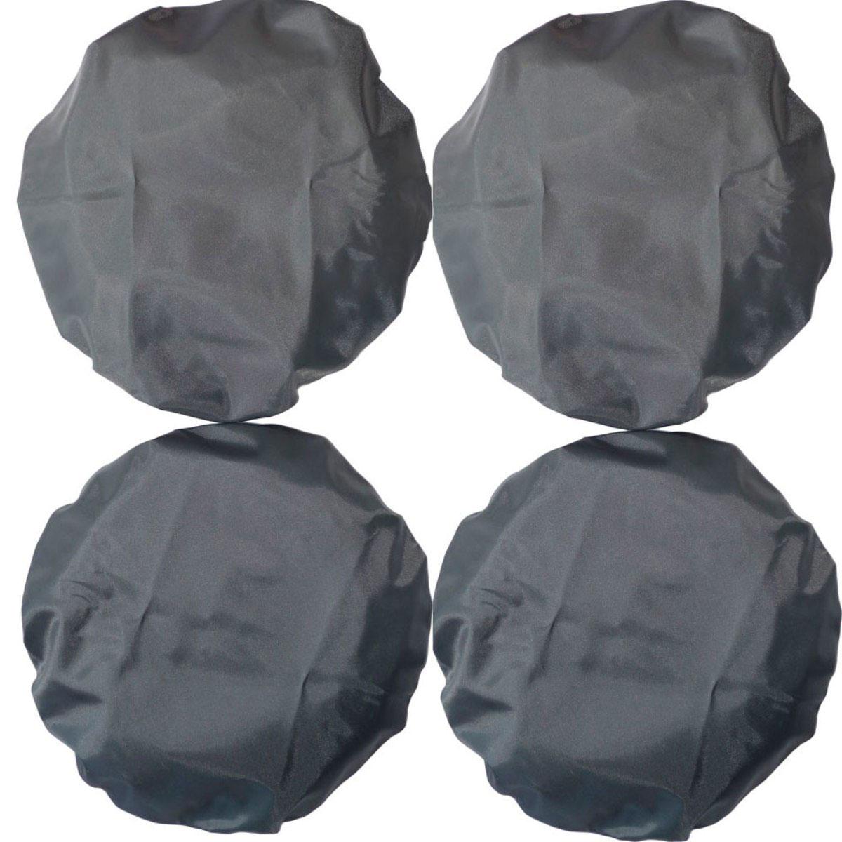 Чудо-Чадо Чехлы на колеса для коляски диаметр 28-38 см цвет мокрый асфальт 4 шт -  Аксессуары для колясок