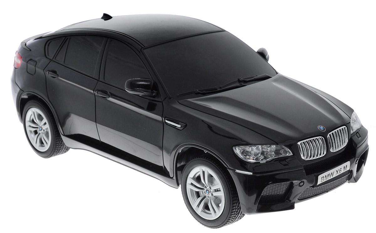 """Все мальчишки любят мощные крутые тачки! Особенно если это дорогие машины известной марки, которые, проезжая по улице, обращают на себя восторженные взгляды пешеходов. Радиоуправляемая модель TopGear """"BMW X6"""" - это детальная копия существующего автомобиля в масштабе 1:24. Машинка изготовлена из прочного легкого пластика, колеса прорезинены. При движении фары машины светятся. При помощи пульта управления автомобиль может перемещаться вперед, дает задний ход, поворачивает влево и вправо, останавливается. Встроенные амортизаторы обеспечивают комфортное движение. В комплект входят машинка, пульт управления, зарядное устройство (время зарядки составляет 4-5 часов), аккумулятор. Автомобиль отличается потрясающей маневренностью и динамикой. Ваш ребенок часами будет играть с моделью, устраивая захватывающие гонки. Машина работает от аккумулятора (входит в комплект). Для работы пульта управления необходимы 2 батарейки типа АА (не входят в комплект)."""