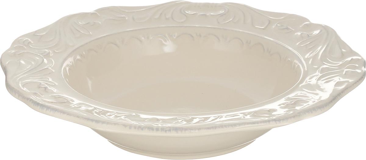 Тарелка суповая Certified International Флоренция, диаметр 25 смVT-1520(SR)Суповая тарелка Certified International Флоренция выполнена из высококачественной керамики с рельефным рисунком. Изделие сочетает в себе изысканный дизайн с максимальной функциональностью. Тарелка прекрасно впишется в интерьер вашей кухни и станет достойным дополнением к кухонному инвентарю. Суповая тарелка Certified International Флоренция подчеркнет прекрасный вкус хозяйки и станет отличным подарком. Можно мыть в посудомоечной машине и использовать в микроволновой печи.Диаметр тарелки: 25 см.