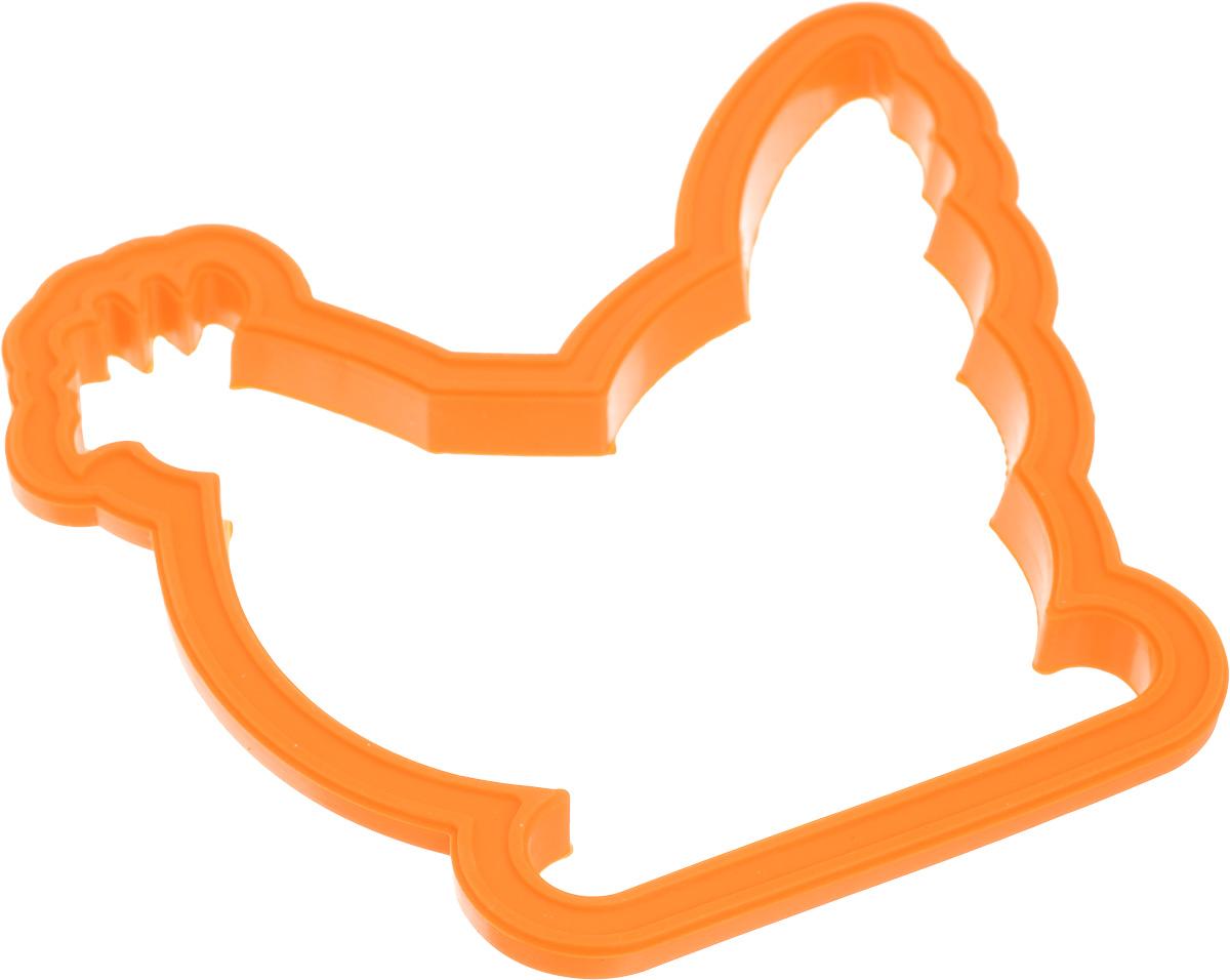 Форма для яичницы Calve, цвет: оранжевый. CL-456494672Форма Calve изготовлена из силикона. Она предназначена для приготовления яичницы, выпекания блинов необычной формы и других блюд. Необходимо просто залить приготавливаемую массу внутрь формочки, расположенной на сковородке, и подождать, пока блюдо не будет готово. Благодаря такой формочке, вы привнесете немного оригинальности и разнообразия в свой повседневный завтрак.Можно мыть в посудомоечной машине.