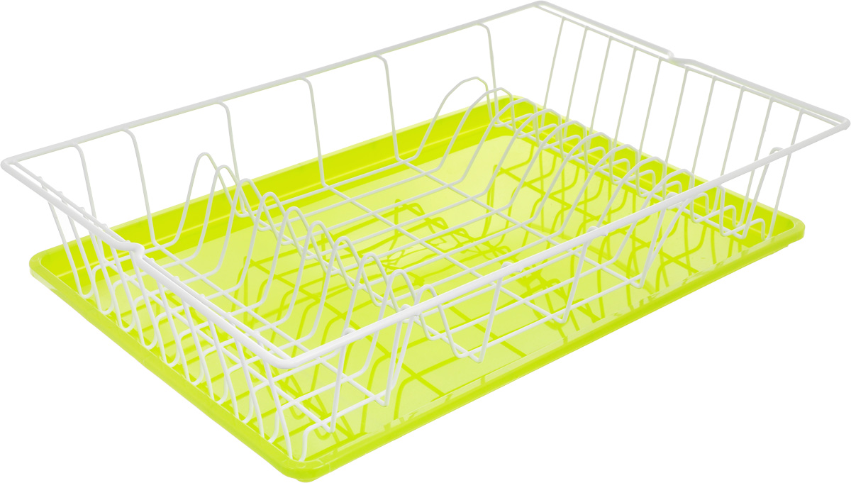 Сушилка для посуды Metaltex Germatex Plus, с поддоном, цвет: салатовый, белый, 48 х 30 х 9,5 см32.02.45-514_салатовый, белыйСушилка Metaltex Germatex Plus, изготовленная из стали, представляет собой решетку с ячейками для посуды. Изделие оснащено пластиковым поддоном для стекания воды. Сушилка Metaltex Germatex Plus не займет много места на вашей кухне. Вы сможете разместить на ней большое количество предметов. Компактные размеры и оригинальный дизайн выделяют эту сушилку из ряда подобных.Размер сушилки: 48 х 30 х 9,5 см.Размер поддона: 45 х 31 х 2 см.