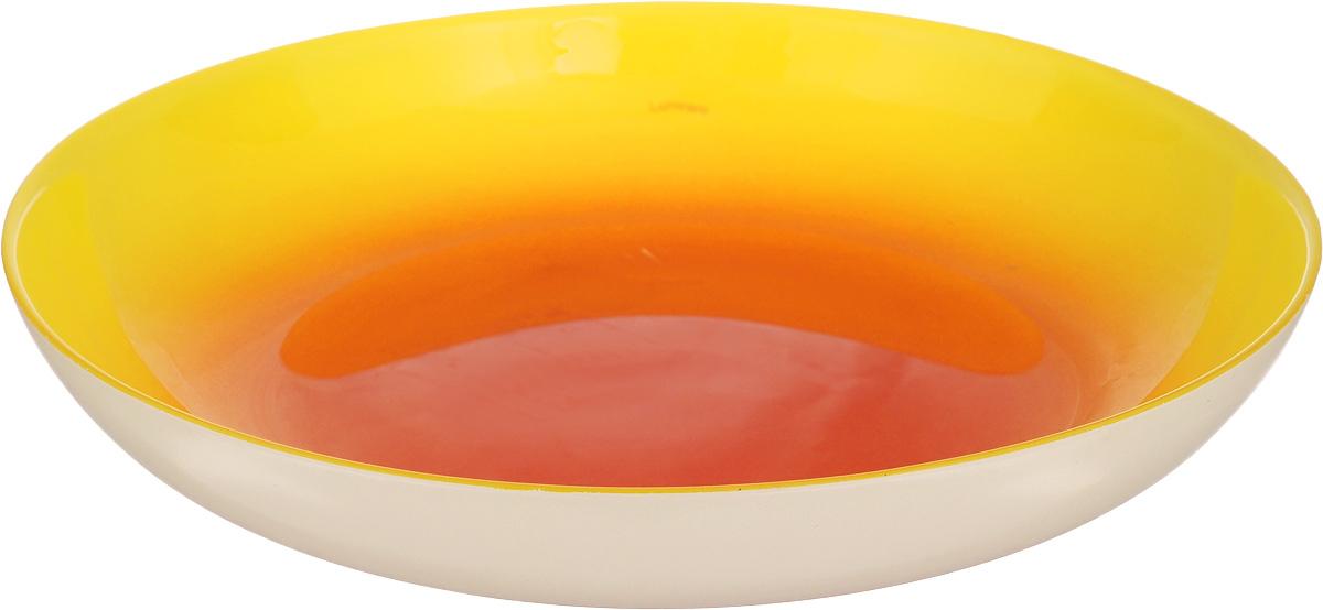 Тарелка глубокая Luminarc Fizz Lemon, диаметр 20,2 см115510Глубокая тарелка Luminarc Fizz Lemon, изготовленная из ударопрочного стекла, имеет оригинальный дизайн. Такая тарелка прекрасно подходит как для торжественных случаев, так и для повседневного использования. Она прекрасно оформит стол и станет отличным дополнением к вашей коллекции кухонной посуды. Диаметр тарелки (по верхнему краю): 20,2 см. Высота тарелки: 3,5 см.