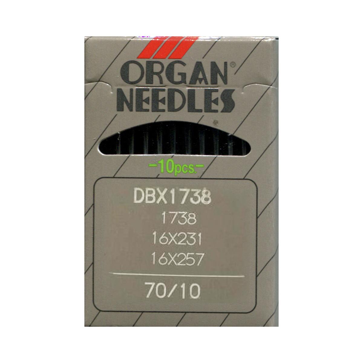 Иглы для промышленных швейных машин Organ, DBx1/70, 10 шт678418Иглы для промышленных швейных машин Organ с маркировкой DBx1 предназначены для прямострочных швейных машин. Иглы используются для пошива всех видов тканей. Острие игл тонкое, стандартное.Предназначены для машин цепного стежка 10Б, 53, 810 классов и импортных аналогов. В промышленных машинах используются иглы с круглыми колбами, в отличие от игл бытовых машин, у которых колбы плоские. Круглая колба позволяет при наладке машины и установке иглы поворачивать (вращать) иглу, закрепляя ее в нужном положении. Диаметр колбы: 1,64 мм. Длина иглы: 33,9 мм. Номер игл: 70.