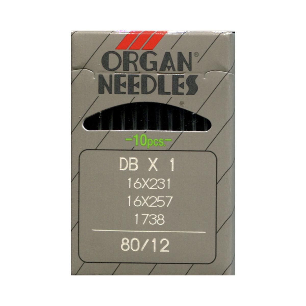 Иглы для промышленных швейных машин Organ, DBx1/80, 10 штKT-508-3 бело-фиолетовыйИглы для промышленных швейных машин Organ с маркировкой DBx1 предназначены для прямострочных швейных машин. Иглы используются для пошива всех видов тканей. Острие игл тонкое, стандартное.Предназначены для машин цепного стежка 10Б, 53, 810 классов и импортных аналогов. В промышленных машинах используются иглы с круглыми колбами, в отличие от игл бытовых машин, у которых колбы плоские. Круглая колба позволяет при наладке машины и установке иглы поворачивать (вращать) иглу, закрепляя ее в нужном положении. Диаметр колбы: 1,64 мм. Длина иглы: 33,9 мм. Номер игл: 80.
