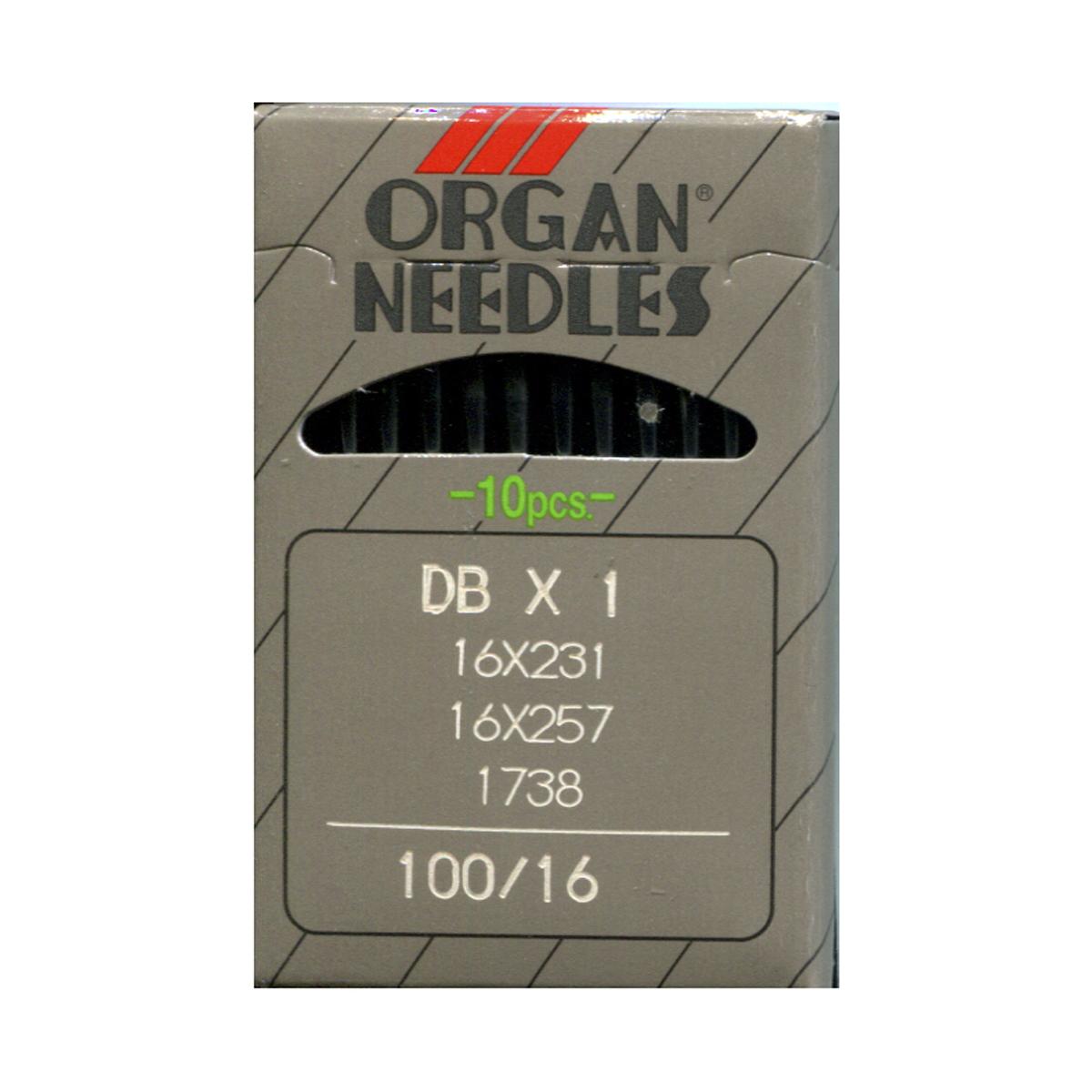 Иглы для промышленных швейных машин Organ, DBx1/100, 10 шт162280Иглы для промышленных швейных машин Organ с маркировкой DBx1 предназначены для прямострочных швейных машин. Иглы используются для пошива всех видов тканей. Острие игл тонкое, стандартное.Предназначены для машин цепного стежка 10Б, 53, 810 классов и импортных аналогов. В промышленных машинах используются иглы с круглыми колбами, в отличие от игл бытовых машин, у которых колбы плоские. Круглая колба позволяет при наладке машины и установке иглы поворачивать (вращать) иглу, закрепляя ее в нужном положении. Диаметр колбы: 1,64 мм. Длина иглы: 33,9 мм. Номер игл: 100.