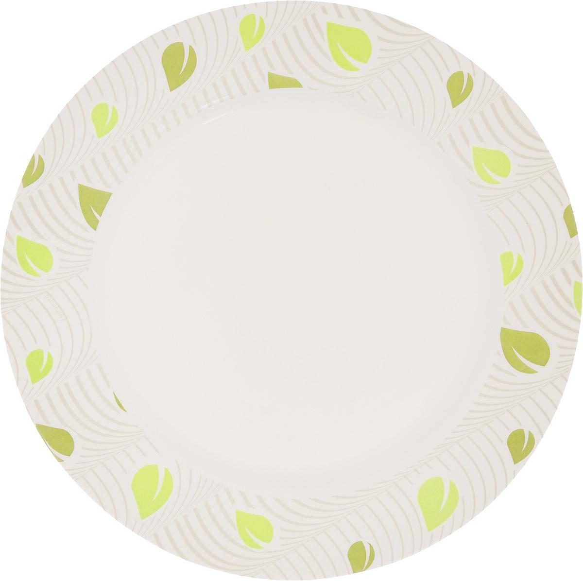 Тарелка Luminarc Amely, диаметр 26,5 см115510Элегантная тарелка Luminarc Amely, изготовленная из ударопрочного стекла, имеет изысканный внешний вид. Такая тарелка прекрасно подходит как для торжественных случаев, так и для повседневного использования. Она прекрасно оформит стол и станет отличным дополнением к вашей коллекции кухонной посуды. Диаметр тарелки (по верхнему краю): 26,5 см.