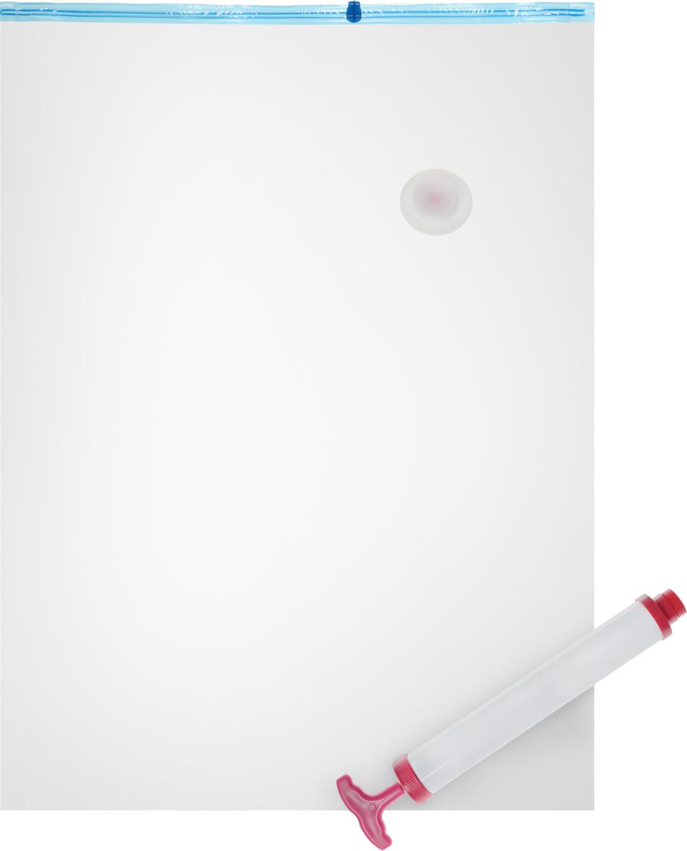 Набор пакетов вакуумных Home Queen, с насосом, 70 х 100 см, 2 шт1092019Вакуумные пакеты Home Queen предназначены для долговременного хранения вещей. Они отлично защитят вашу одежду от пыли и других загрязнений и поможет надолго сохранить ее безупречный вид. Пакеты изготовлены из высококачественного полиэтилена. В комплект входит ручной насос. Достоинства пакетов Home Queen:- вещи сжимаются в объеме на 75%, полностью сохраняя свое качество;- вещи можно хранить в течение целого сезона (осенью и зимой - летний гардероб, летом - зимние свитера, шарфы, теплые одеяла);- надежная защита вещей от любых повреждений - влаги, пыли, пятен, плесени, моли и других насекомых, а также от обесцвечивания, запахов и бактерий;- воздух легко можно откачать ручным насосом.Комплектация: 2 пакета, насос.