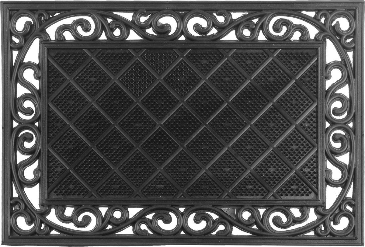 Коврик придверный SunStep Трианон, 60 х 40 см547855Придверный коврик SunStep Трианон, выполненный из резины, прост в обслуживании, прочный и устойчивый к различным погодным условиям. Его основа предотвращает скольжение по гладкой поверхности и обеспечивает надежную фиксацию. Такой коврик защитит помещение от уличной пыли и грязи.
