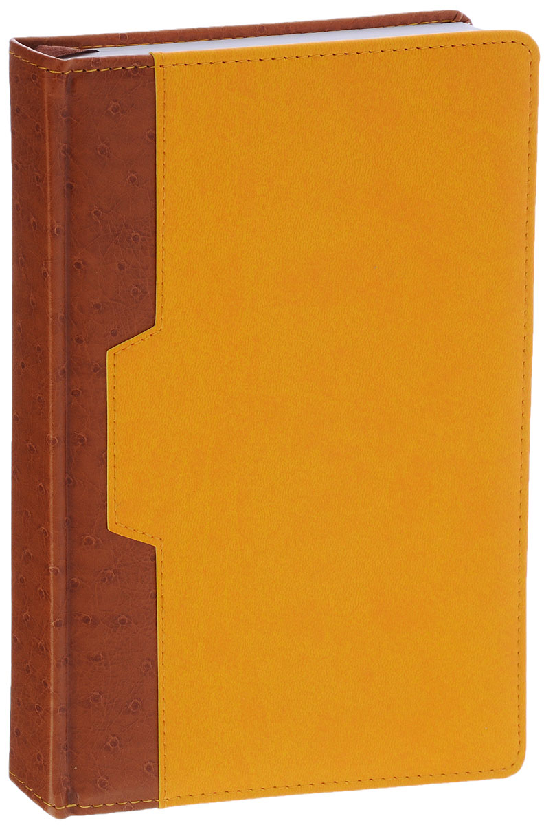 Index Ежедневник Desert недатированный 168 листов цвет коричневый желтый34235Недатированный ежедневник Index Desert - это один из удобных способов систематизации всех предстоящих событий и незаменимый помощник для каждого. Обложка выполнена из высококачественной искусственной кожи с прострочкой по периметру и тиснением. Внутренний блок на 336 страниц выполнен из белой офсетной бумаги с закругленными отрывными уголками. Ежедневник содержит страницу для заполнения личных данных, календарь с 2015 по 2018 год, справочно-информационный блок, телефонно-адресную книгу, а также ляссе для быстрого поиска нужной страницы. Все планы и записи всегда будут у вас перед глазами, что позволит легко ориентироваться в графике дел, событий и встреч.