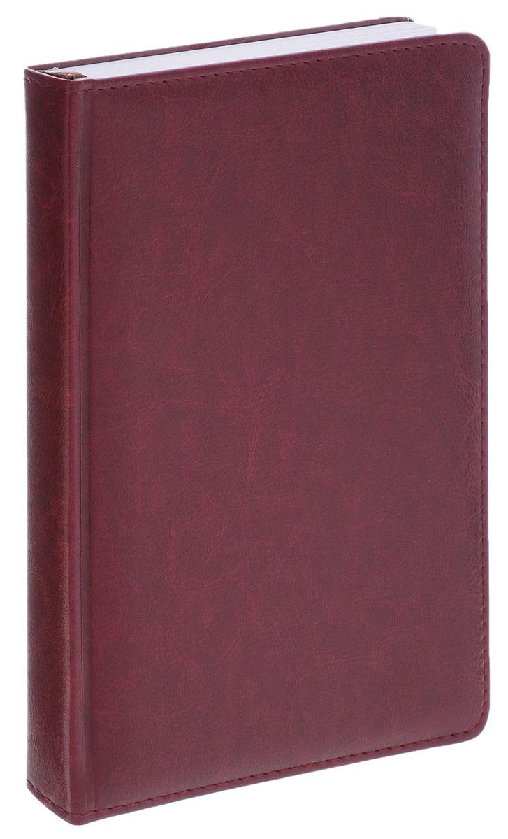 Index Ежедневник Nature недатированный 168 листов цвет бордовый72523WDНедатированный ежедневник Index Nature - это один из удобных способов систематизации всех предстоящих событий и незаменимый помощник для каждого. Обложка выполнена из высококачественной искусственной кожи с прострочкой по периметру и тиснением. Внутренний блок на 336 страниц выполнен из белой офсетной бумаги с закругленными отрывными уголками. Ежедневник содержит страницу для заполнения личных данных, календарь с 2014 по 2017 год, справочно-информационный блок, телефонно-адресную книгу, а также ляссе для быстрого поиска нужной страницы. Все планы и записи всегда будут у вас перед глазами, что позволит легко ориентироваться в графике дел, событий и встреч.