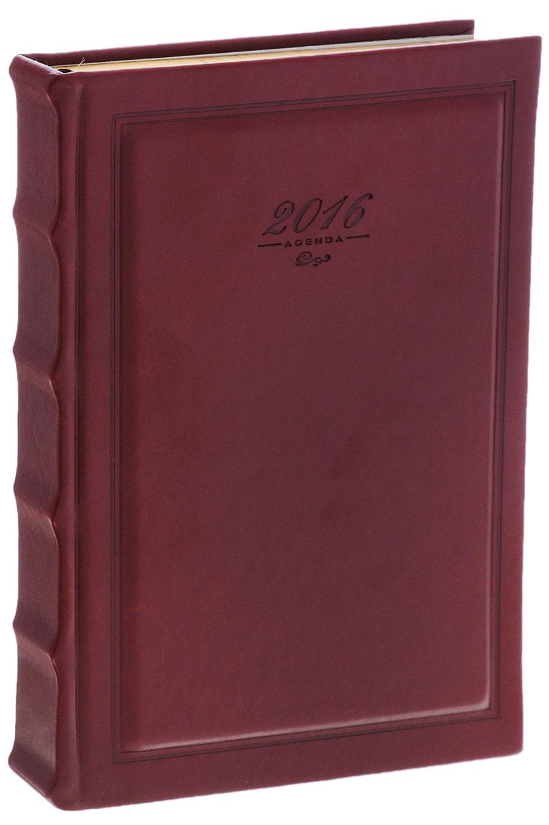 Index Ежедневник Rarity датированный 168 листов цвет красный72523WDДатированный ежедневник Index Rarity - это один из удобных способов систематизации всех предстоящих событий и незаменимый помощник для каждого. Обложка выполнена из высококачественной искусственной кожи с тиснением. Внутренний блок на 336 страниц выполнен из белой офсетной бумаги с отрывными уголками и золотым обрезом. Ежедневник содержит страницу для заполнения личных данных, календарь с 2015 по 2018 год, справочно-информационный блок, телефонно-адресную книгу, а также ляссе для быстрого поиска нужной страницы. Все планы и записи всегда будут у вас перед глазами, что позволит легко ориентироваться в графике дел, событий и встреч.