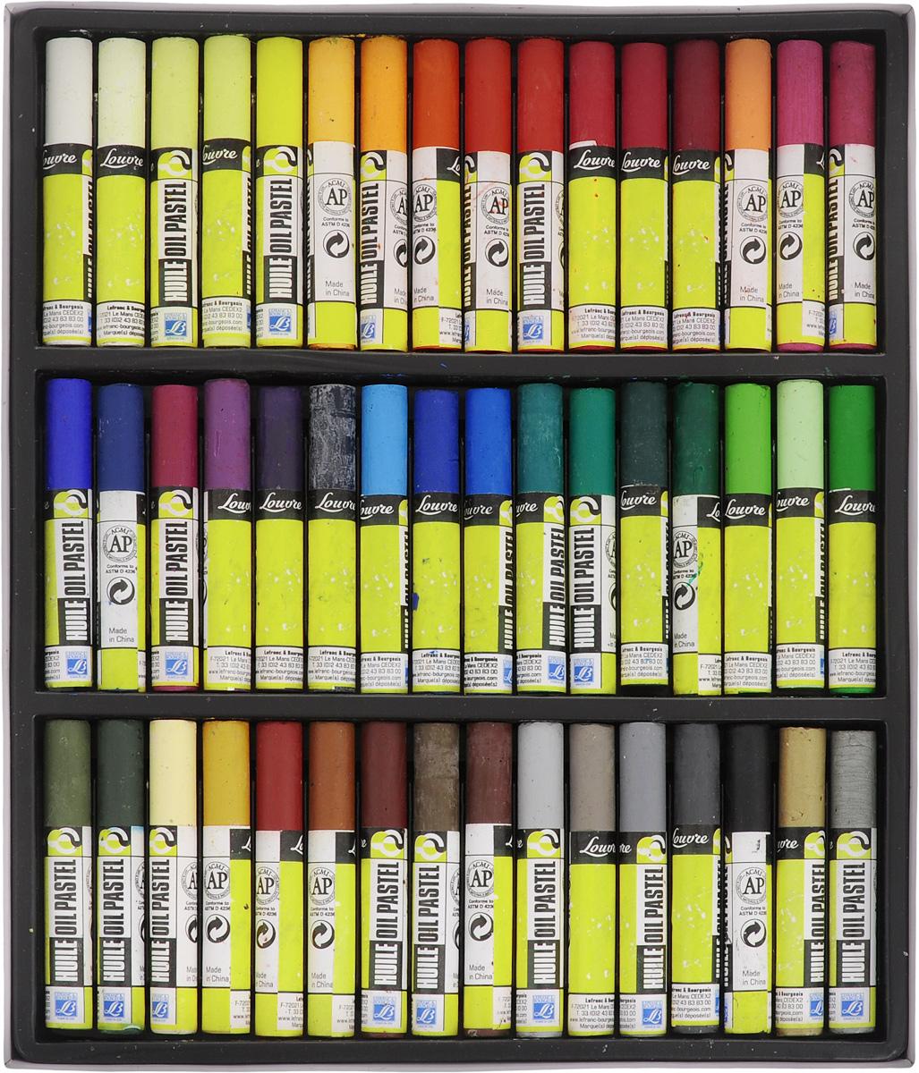 Набор масляной пастели Lefranc & Bourgeois Louvre, 48 шт121804Набор Lefranc & Bourgeois Louvre состоит из 48 мелков масляной пастели разных цветов. Пастель мерцающая и мягкая. Каждый мелок защищен оболочкой, что создает дополнительные удобства для использования. Пастель может применяться разными способами: - для создания эффекта прозрачности ее используют с уайт-спиритом, - для получения пастозного эффекта кончик мелка нагревают и в размягченном виде наносят на бумагу при помощи мастихина. Длина мелка: 7 см. Комплектация: 48 шт.