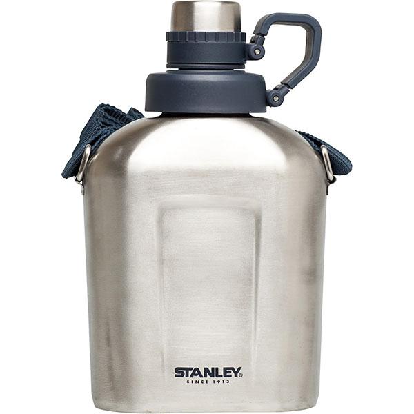 Фляга STANLEY Adventure, цвет: стальной, 1 лAS009Фляга STANLEY Adventure выполнена из нержавеющей стали. Двухступенчатая крышка широко открывается, чтобы легко заполнить флягу или промыть ее. Флягу удобно носить за плечом или повесить при помощи наплечного ремня. Она полностью герметична. Фляга может удерживать холод - 1 час, с кубиками льда - 3 часа.Объем: 1 л.