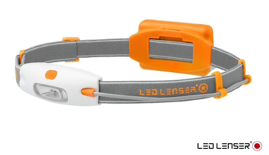 Фонарь налобный LED Lenser NEO, цвет: оранжевый67742Очень легкий налобный фонарь LED Lenser NEO подойдет для ежедневного использования. Он будет удобен при езде на велосипеде, при беге или при прогулках. Корпус фонаря выполнен из прочного пластика.Характеристики:- Световой поток- 90 лм;- Питание - 3 х ААА;- Количество светодиодов - 4 (3 белых, 1 красный);- Максимальное время свечения - 10 часов;- Эффективная дальность свечения луча 10 м.
