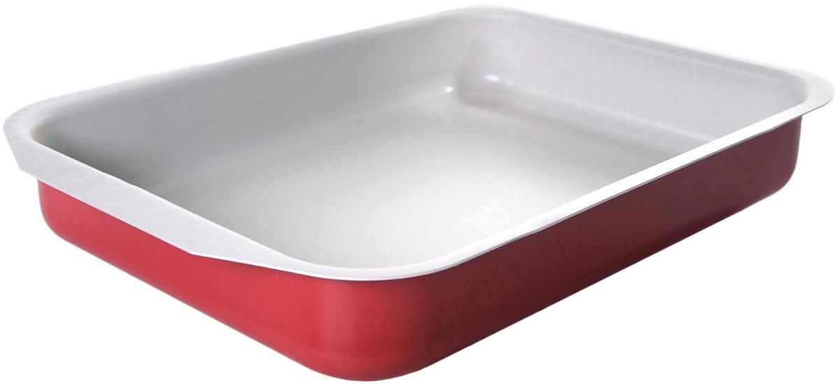Противень Vari Flora, 25 х 19 см391602Яркая, стильная коллекция посуды Flora, привнесет отличное настроение в порой обыденный процесс приготовления блюд. Модное внешнее покрытие обладает высокой жаропрочностью, экологически чистое, легко очищается, долго сохраняет свой цвет. Удобные ручки подобраны точно под цвет корпуса, изготовлены из прочного бакелитового сплава, который не нагревается, оберегает руки от ожогов. Внутреннее антипригарное покрытие цвета слоновой кости имеет идеально гладкую поверхность с формулой двойной защиты от пригорания. На покрытии светлого цвета гораздо легче контролировать процесс жарки любимых блюд.