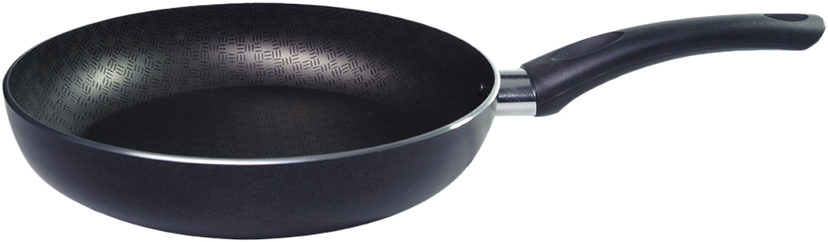 Сковорода Vari Vita, с антипригарным покрытием, цвет: черный. Диаметр 24 смВ52122Сковорода Vari Vita изготовлена из алюминия с антипригарным покрытием. Изделие оснащено эргономичной ручкой, выполненной из пластика и не нагревающейся при готовке.Сковороду можно использовать на всех типах плит, кроме индукционных. Не подходит для микроволновых печей. Можно мыть в посудомоечной машине. Не допускается использование металлических предметов.Высота стенки сковороды: 4,5 см. Длина ручки: 14 см. Диаметр: 24 см.