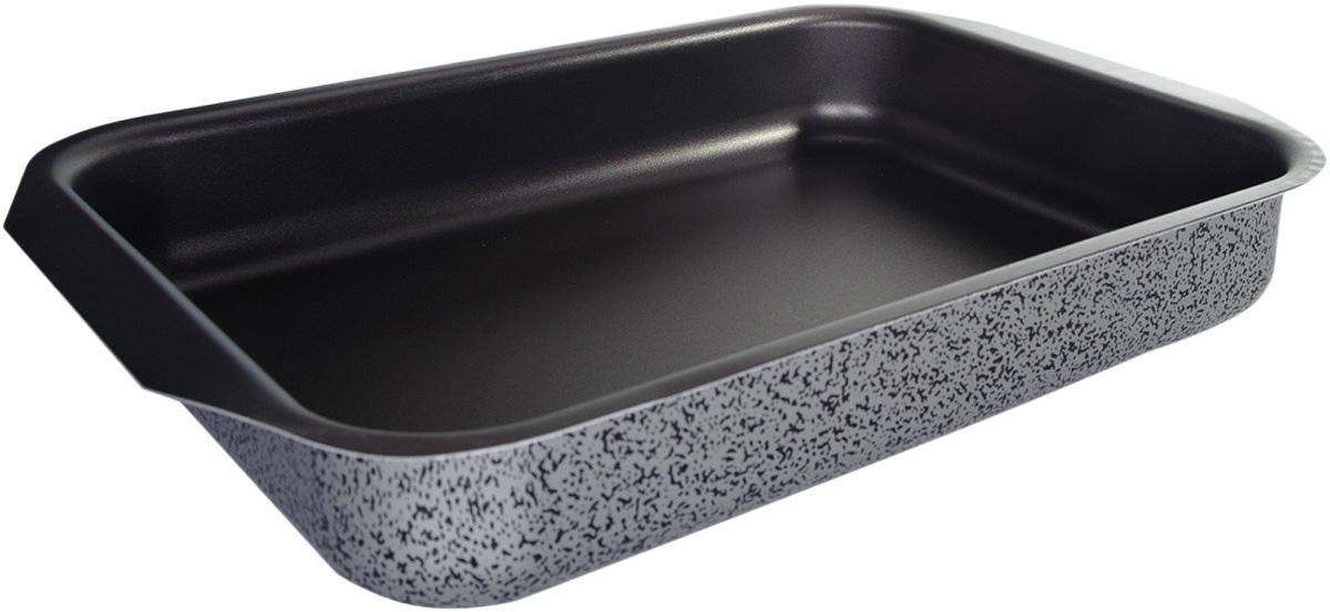 Противень Vari Scandia, цвет: мраморный, 27 х 35 смFS-91909Посуда Scandia - классическая штампованная алюминиевая посуда с антипригарным покрытием SKANDIA. Легкая и удобная, посуда Scandia обладает быстрым нагревом благодаря толщине стенок до 3 мм. Имеет оригинальный, броский, легко узнаваемый дизайн. Легко моется. Походит для посудомоечных машин. Не выделяет вредных веществ. Не содержит PFOA. На посуде Scandia можно готовить широкий спектр блюд - котлеты, тушеное мясо, пироги, домашнюю пиццу. И все это за минимальное время.