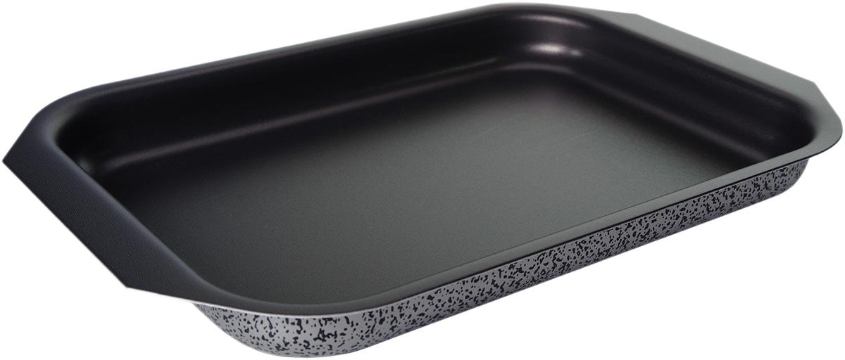 Противень Vari Scandia, цвет: мраморный, низкий, 27 х 35 смFS-80418Посуда Scandia – классическая штампованная алюминиевая посуда с антипригарным покрытием SKANDIA. Легкая и удобная, посуда Scandia обладает быстрым нагревом благодаря толщине стенок до 3 мм. Имеет оригинальный, броский, легко узнаваемый дизайн. Легко моется. Походит для посудомоечных машин. Не выделяет вредных веществ. Не содержит PFOA. На посуде Scandia можно готовить широкий спектр блюд — котлеты, тушеное мясо, пироги, домашнюю пиццу. И все это за минимальное время.