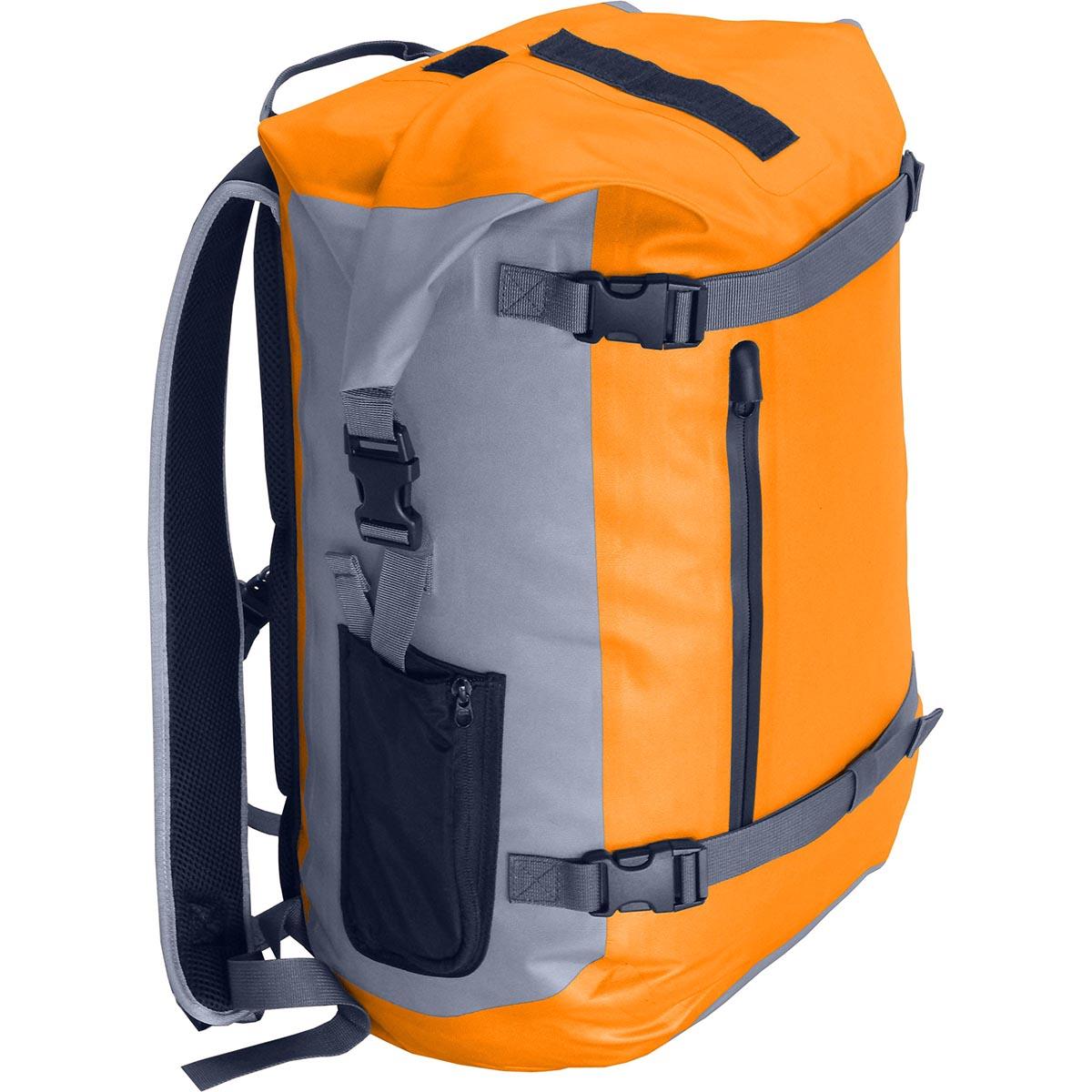 Герморюкзак NOVA TOUR Геккон 40, цвет: серый, оранжевый, 40 л67742Полностью герметичный рюкзак объемом 40 литров, с фронтальными стяжками, влагозащищенным фронтальным карманом и небольшими боковыми карманами. 100% защита от воды; Ткань 300D Polyester TPU. Грудная стяжка. Влагозащитная молния.Вес: (кг) 0,97.Объем; (л) 40. Ширина спинки: 30 см.Высота спинки: 48 см.Глубина по дну: 24 см. Максимальная высота: 56 см.