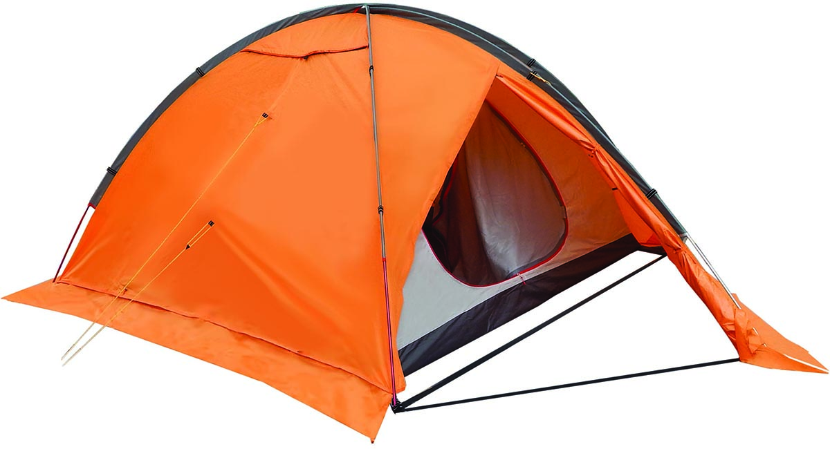 Палатка туристическая NOVA TOUR Хан-Тенгри 4, цвет: оранжевый0003929Четырехместная палатка NOVA TOUR Хан-Тенгри 4 обладает усиленным внешним каркасом. Симметричная конструкция позволяет равномерно натянуть тент в любую погоду, а внешний каркас дает возможность стразу установить внутреннюю палатку и тент. Палатка просторная, при желании, в нее могут поместиться и 5 человек.Особенности:Материалы каркаса: алюминий 7001 - T6 х 8,5 мм.Конструкция: дуговые.Ткань тента: Poly Taffeta 210T R/S PU 7000.Ткань пола: Poly Taffeta 210T PU 10000.Ткань палатки Poly Taffeta 210T W/R BR.Проклеенные швы тента.Противомоскитная сетка.Ветрозащитная юбка.Система вентиляции для экстремальных условий.Габаритные размеры сумки: 54 x 18 x 21 см.Размер внутренней палатки: 220 х 210 х 120 см.Размер внешнего тента: 390 х 235 х 130 см.