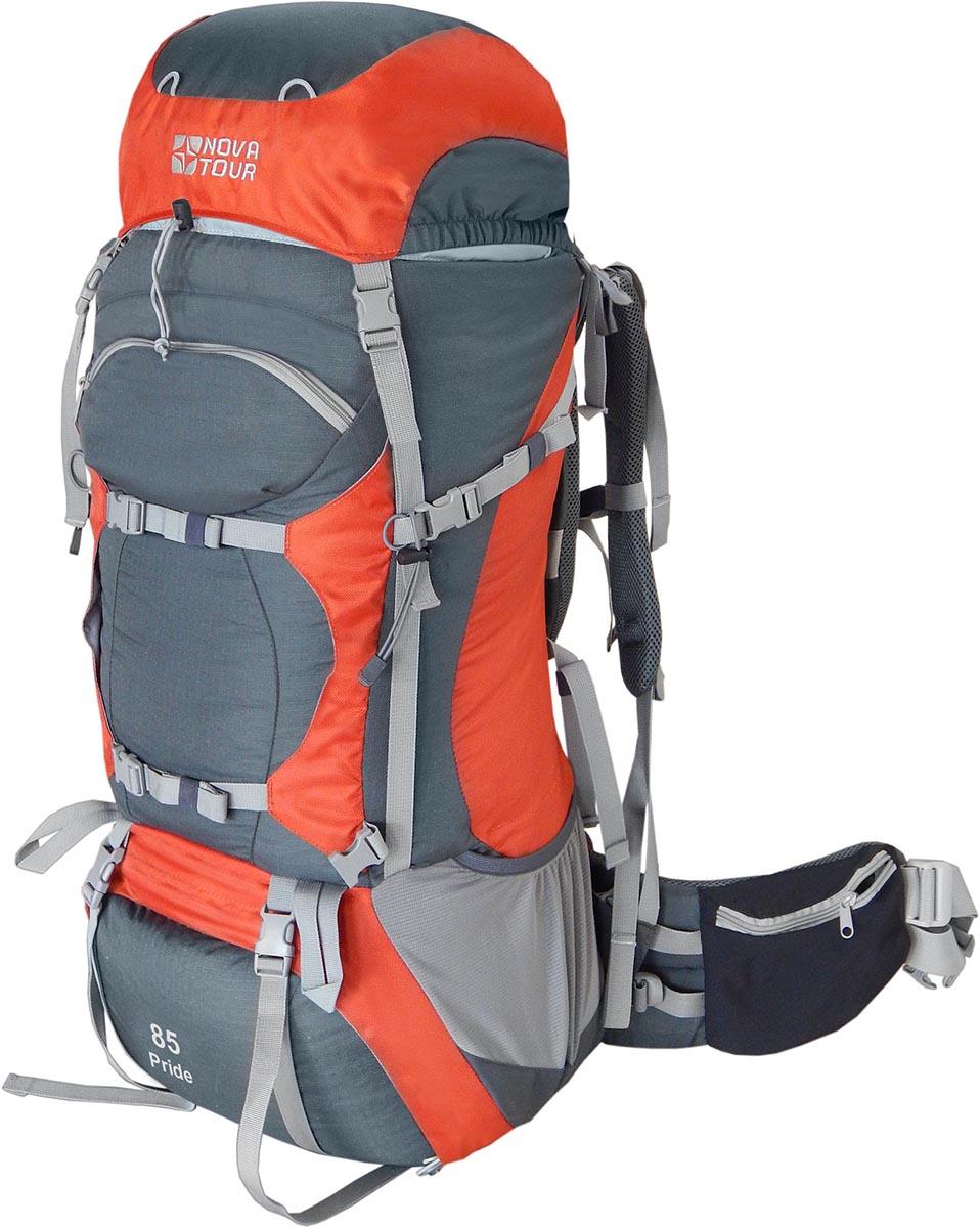 Рюкзак экспедиционный Nova Tour Прайд 85, цвет: серый, терракотовый, 90 л67742Облегченная подвесная систем ABS2, равномерно распределяет вес на плечи и пояс, уменьшает нагрузку на позвоночник.Система навески разработана для большего удобства крепления горного снаряжения.Удобный нижний вход позволяет достать вещи со дна рюкзака.Гермочехол, расположенный в специальном кармане в дне рюкзака поможет сохранить ваши вещи сухими в дождь и снег.Характеристики: Плавающий клапанПодвеска ABS 2Ткань 600D Polyester invisible ripstopУзлы крепления горного снаряженияГрудная стяжкаФурнитура DuraflexСветоотражающий кантПояс с карманами