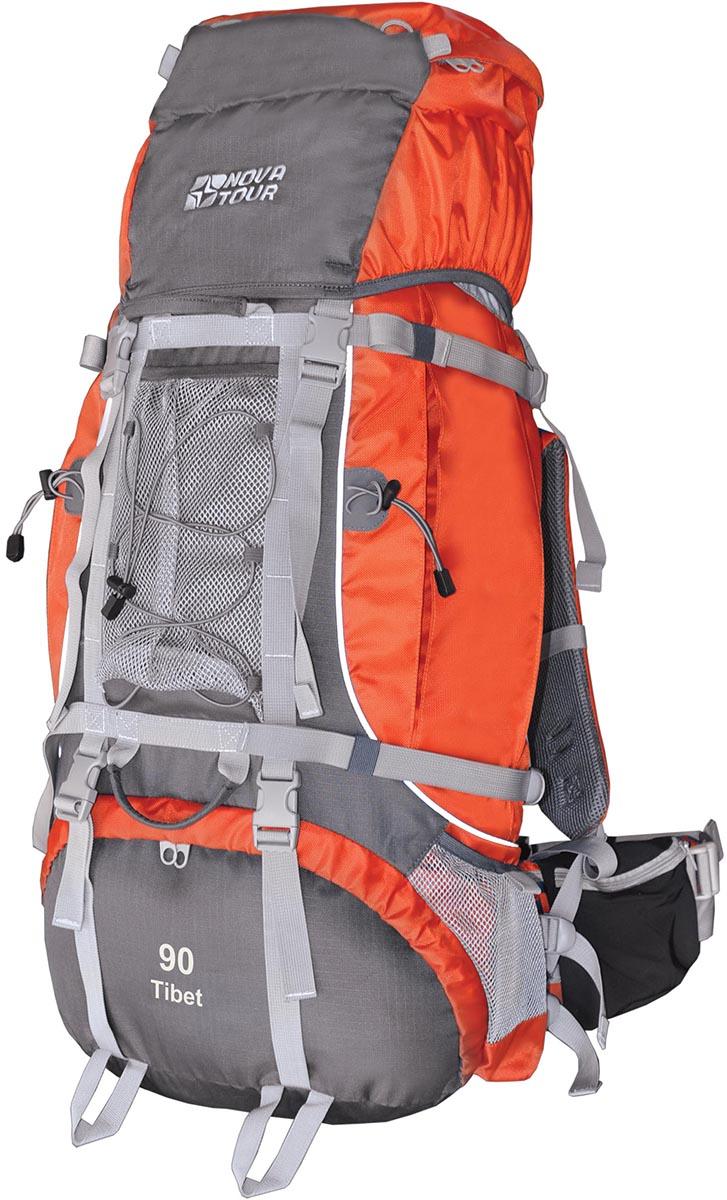 Рюкзак экспедиционный Nova Tour Тибет 90, цвет: серый, терракотовый, 90 л95772-250-00Рюкзак экспедиционный Nova Tour Тибет 90 - два вместительных кармана на молнии,сетчатые карманы для фляги и мелочей по обеим бокам рюкзака и объемный клапан увеличивают вместимость.Удобная подвесная система с широкими лямками, значительно облегчает переноску тяжелых грузов. Сетчатый карман спереди и эластичная шнуровка на клапане рюкзака позволяют держать под рукой самые необходимые вещи: дождевик, теплый свитер или сменную обувь .Три усиленных ручки обеспечивают удобство при погрузке рюкзака в транспорт.Непромокаемый гермочехол, упакованный в специальный карман на дне рюкзака защитит от снега и дождя. Плавающий клапан. Подвеска ABS 2Ткань 600D Polyester invisible Rip StopУзлы крепления горного снаряженияГрудная стяжкаФурнитура DuraflexПояс с карманамиСтропы для регулировки объема